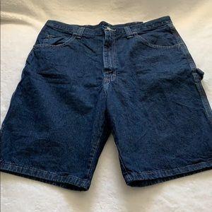 Wrangler Mens Carpenter Shorts (36, Dark Blue)